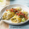 Quick Green Chile & Chicken Enchiladas
