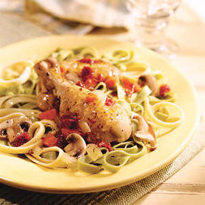 Thyme Chicken and Mushrooms