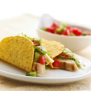 Chicken and Kiwi Tacos