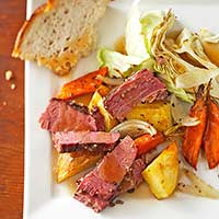 Two-Step Corned Beef and Cabbage