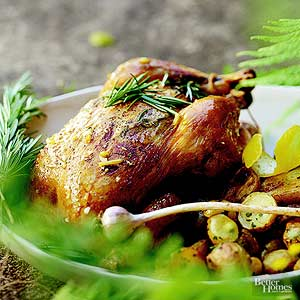 Roasted Chicken with Rosemary and Garlic Herbed Potatoes