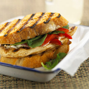 Chicken and Roasted Pepper Sandwiches