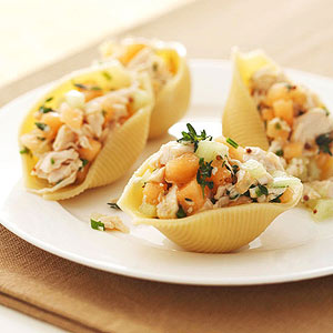 Chicken-and-Melon-Stuffed Shells