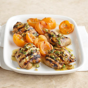 Golden Grilled Chicken Thighs with Apricots
