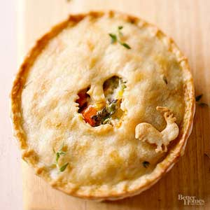 Chicken Alfredo Pot Pies
