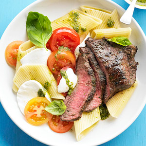 Caprese Pasta and Steak