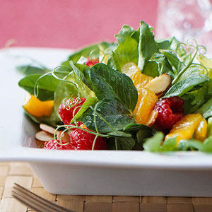 Mixed Greens and Fruit Salad