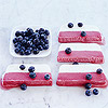 Red, White, and Blueberry Ice Cream Dessert