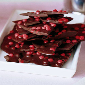 Bittersweet Chocolate Bark with Cinnamon Candies