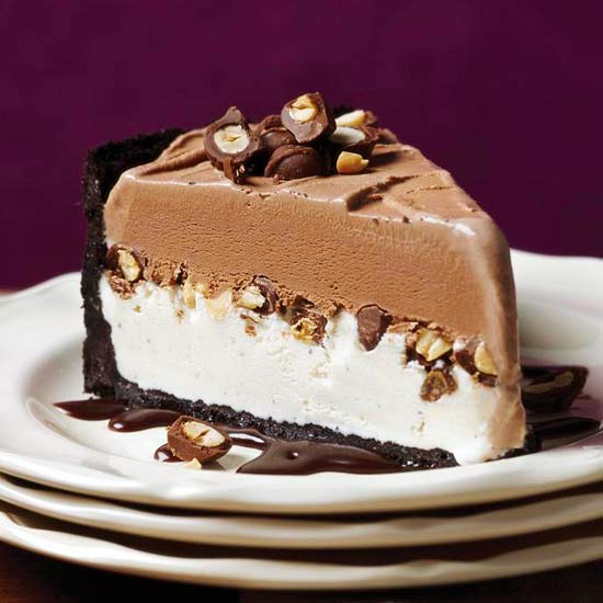 Ice Cream Cake Recipes Pictures : Chocolate-Peanut Ice Cream Cake