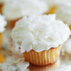 Tangerine Cupcakes with Coconut Frosting
