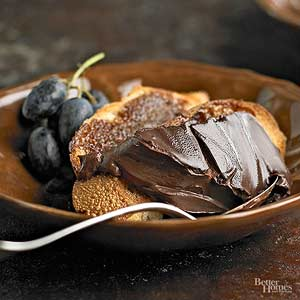 Chocolate Pudding Wedges with Cinnamon Toasts