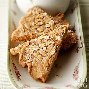 Spiced Oatmeal Shortbread Wedges