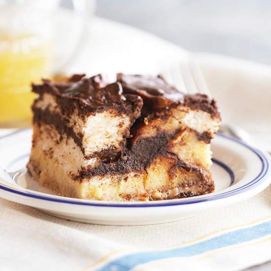 Double-Trouble Bread Pudding with Bourbon Sauce