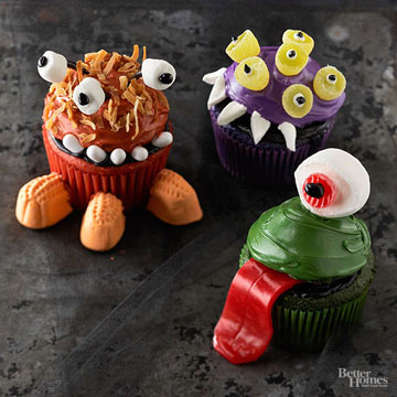 Monstrously Cute Halloween Cupcakes