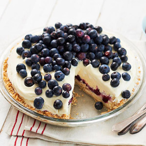 Blueberry Ice Cream Pie