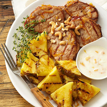 Grilled Pork and Pineapple