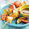 Sausage-Fruit Kabobs