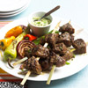 Top Sirloin Kabobs & Avocado Sauce