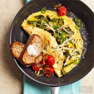 Debbie Shore's Pepper Avocado Omelet