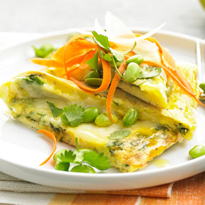 Herbed Frittata with Edamame
