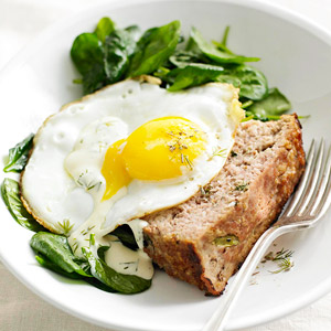 Greens, Eggs, and Ham Loaf