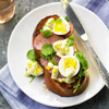 Ham & Egg Salad on Toast
