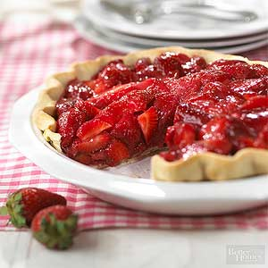 Shimmering Strawberry Pie