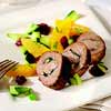 Roasted Lamb with Pomegranate-Orange Compote