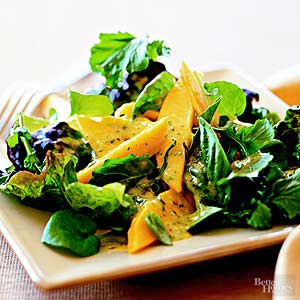 Fresh Greens with Mango Dressing
