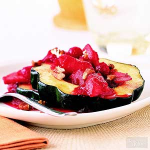 Baked Squash with Apples and Cranberries