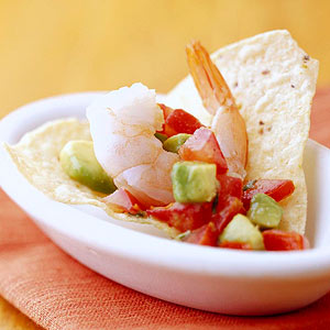 Shrimp-Avocado Nachos