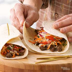 Five-Spice Steak Wraps