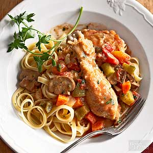 Slow Cooking Chicken Cacciatore