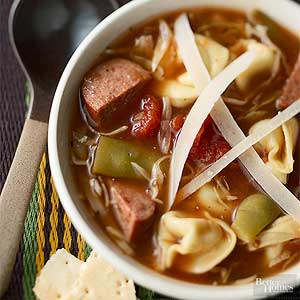 Sausage and Tortellini Soup