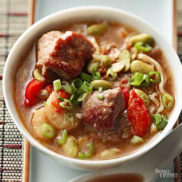 Pork and Edamame Soup