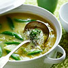 Hearty Garlic & Snap Pea Soup