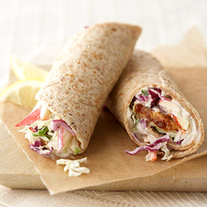 Barbecue Tempeh Wraps