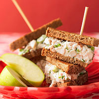Parmesan Chicken Salad Sandwiches