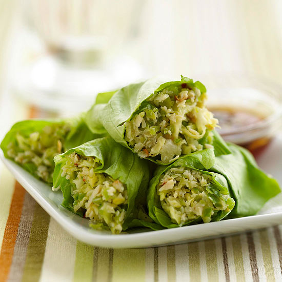 There are Asian lettuce wraps
