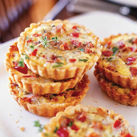 Individual Ham and Cheese Quiches