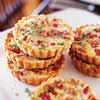 Ham and Cheese Quiches