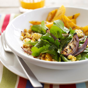 Mango and Corn Salad with Curry Vinaigrette