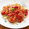 Spaghetti with Tomatoes and Shrimp
