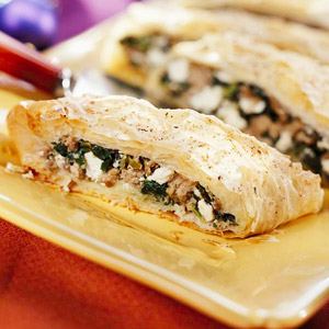 Lamb and Goat Cheese Strudel
