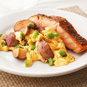 Salmon Potato Scramble