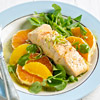 Poached Salmon on Citrus Salad