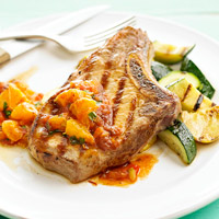 Pork Chops and Squash
