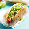 Chilean-Style Hot Dog with Avocado-Chili Relish