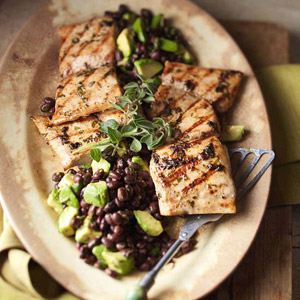 Mahi Mahi with Black Bean & Avocado Relish